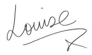 Louise Thompson signature